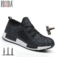 ROXDIA merk plus size 35-46 stalen neus mannen vrouwen werk & veiligheid laarzen zomer lichtgewicht slagvast mannelijke schoenen RXM113