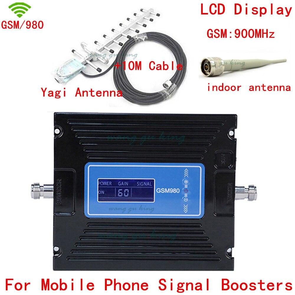 New LCD Display+13dbi Yagi! Gain Control GSM 900mhz Signal Booster,GSM980 Cell Phone Signal Booster,GSM Mobile Signal Repeater