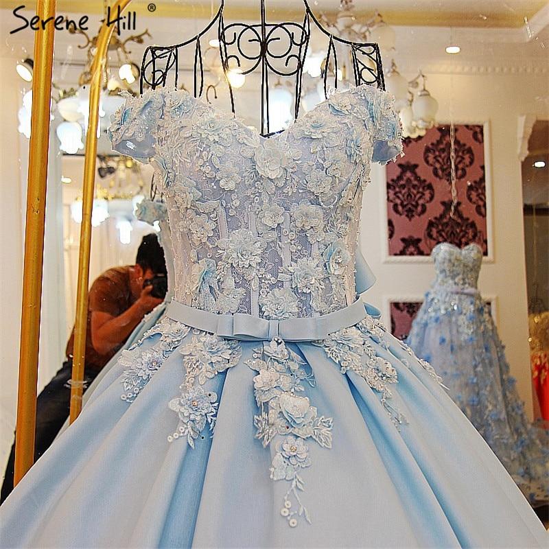 Heißer Verkauf Meer Wasser Blau Satin Brautkleid Sexy Sleeveless ...