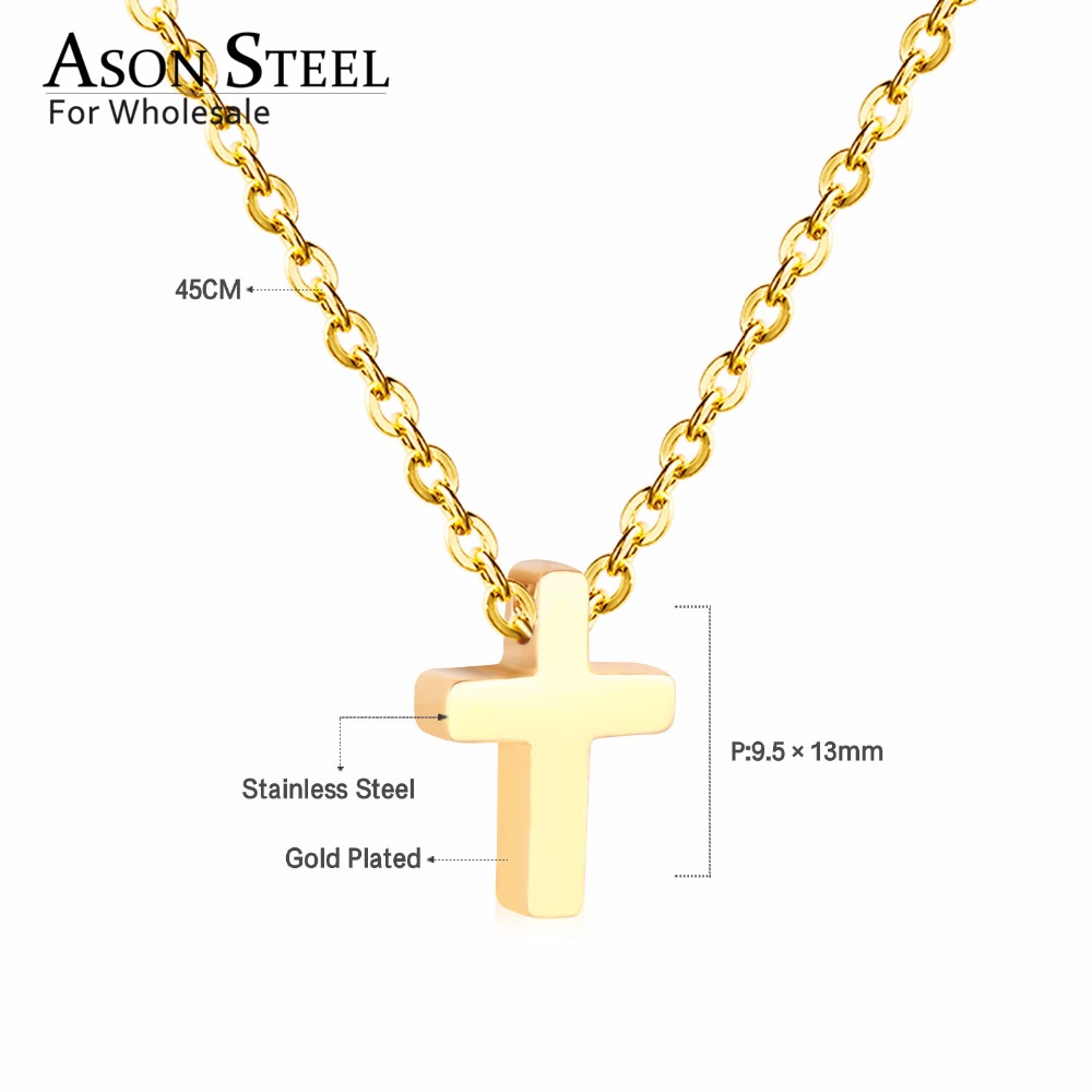 45cm Top 316L Stainless Steel Heart Moon Star CrossPendant Long Link Chains Necklaces Set Gold For Women Choker Necklace Jewelry 20