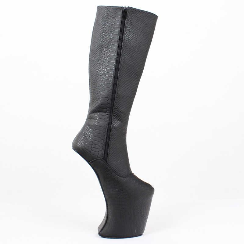 Phụ nữ Nền Tảng Khởi Động Heelless Sexy Đầu Gối Cao Cực Cao Gót Ba Lê Nêm Giày cho Nữ Trục Tôn Sùng Giày