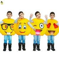 Neuheiten funny emoji kostüme kinder Kinder phantasie maskottchen Weihnachten halloween nettes gesicht cosplay kostüm anzug für rolle paly