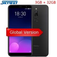 Orijinal Meizu M6T 6 T 4G LTE cep telefonu 3 GB 32 GB MTK6750 Octa Çekirdek 5.7 inç HD Tam ekran Çift Arka Kamera Parmak Izi GPS
