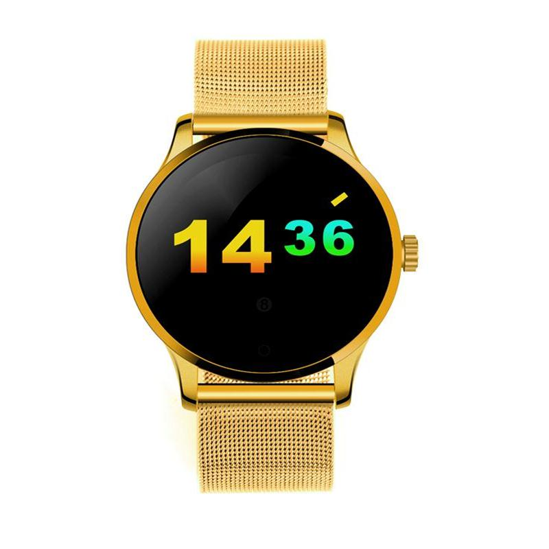 K88H Smart Watch 1.22 Inch IPS Round Screen Support Heart Rate <font><b>Monitor</b></font> Bluetooth smartWatch For apple huawei IOS /Android