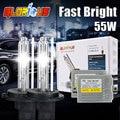 H7 kit de xenón 0.1 Segundos F5 Rápido Brillante 55 w OCULTÓ el kit H1 H3 H27 D2S H4 H11 9005 HB3 HB4 9006 881 4300 k 5000 k 6000 k 8000 k 10000 k