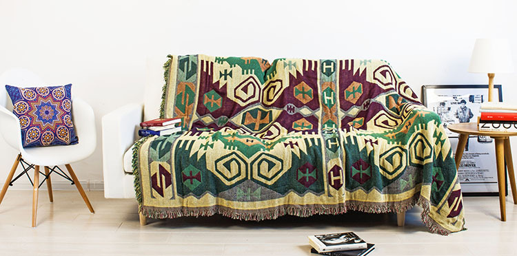 Vintage Tassels Dark Green Woven Soft Sofa Blankets Throws Rugs Sofa Cover  Chair Cover Table Cover Print Home Decor 180x220cm In Throw From Home U0026  Garden On ...