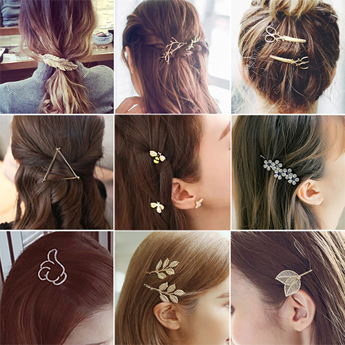 Fashion Hair Barrette Hairpins Hair Clips Accessories For Women Girls Hairgrip Hair Clamp Hairclip Ornaments Headwear Wholesale letter j heart collarbone pendant necklace