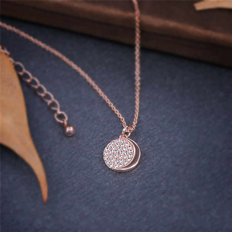 GS Geometric Round Pendants Necklaces For Women Girls Top Austrian Crystal Men Boys Necklace Statement Jewelry Drop Shipping R5M
