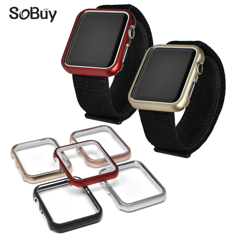 So buy fashion 38mm 42mm metal rim for iwatch Series 1 2 3 Frame Case Cover for Apple Watch Sport Box Protective shell fitting series 1 2 3 soft silicone case for apple watch cover 38mm 42mm fashion plated tpu protective cover for iwatch