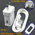 BrankBass 5V 2A USB data Sync micro Mobile phone charger Cable AU Wall Charger plug For Samsung Galaxy S3 S4 NOTE 4