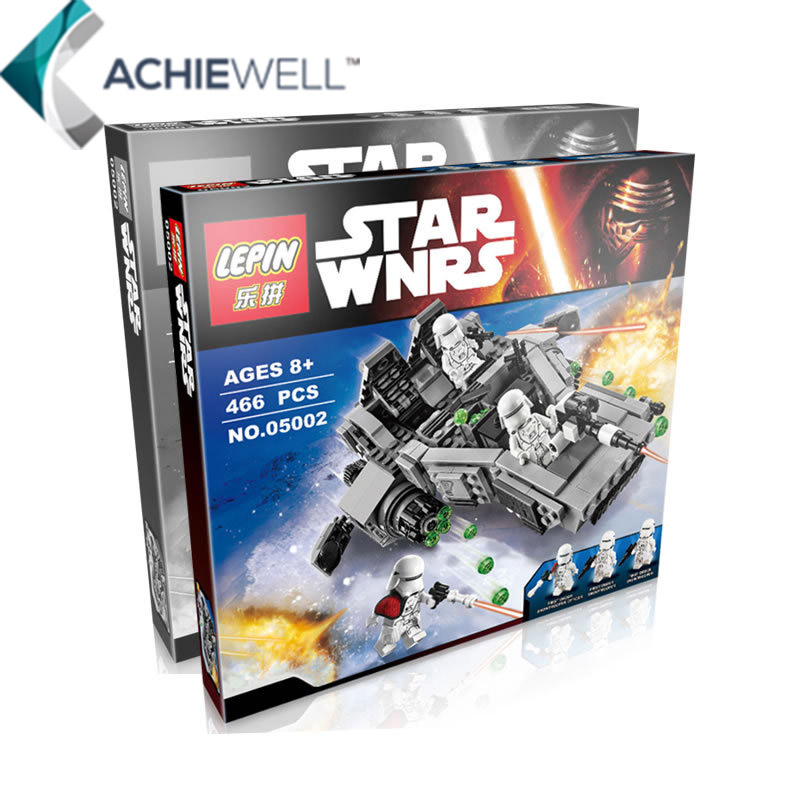 LEPIN <font><b>Star</b></font> <font><b>Wars</b></font> Movie <font><b>The</b></font> <font><b>Force</b></font> <font><b>Awakens</b></font> First Order <font><b>Snow</b></font> Speeder Assembly Model PVC Action Figure Fan Collection Building Blocks