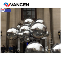 Sliver many size inflatable mirror ball advertising decoration high quality pvc inflatable mirror ball for sale