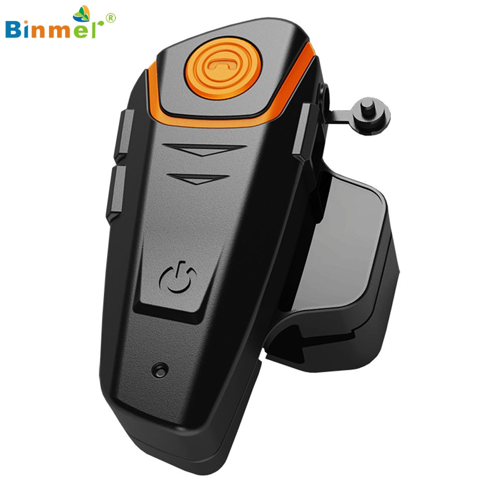 цена 1000m Waterproof Wireless Motorcycle Helmet Bluetooth 3.0 Intercom Headset FM US jy27 Drop Shipping Binmer