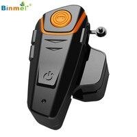 1000m Waterproof Wireless Motorcycle Helmet Bluetooth 3.0 Intercom Headset FM US jy27 Drop Shipping Binmer