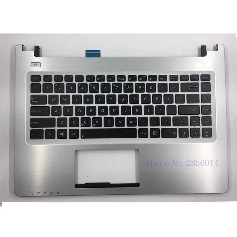 NEW US For Asus K46 K46 K46CA K46CB K46CM S46C S46CB S46CM S46CA Laptop keyboard Version with Palmrest Upper laptop keyboard for asus u44 black without frame sw swiss v111362dsf 0kn0 4111sw00 0kn0 ld1sf01