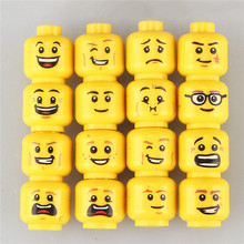 16 PCS Lot Funny Model Bricks Toys For Children Figure Face Head Female Accessories Buidling Blocks