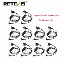 10 шт. оптовая продажа Retevis EA011Y Walkie Talkie Динамик PTT микрофона Акустическая трубка Retevis RT40 гарнитура 3,5 мм 1Pin для YAESU для VERTEX