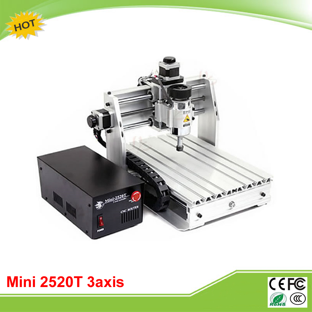 Mini CNC 2520T 3 axis mini CNC milling machine for personal hobby free tax to RU cnc 5axis a aixs rotary axis t chuck type for cnc router cnc milling machine best quality