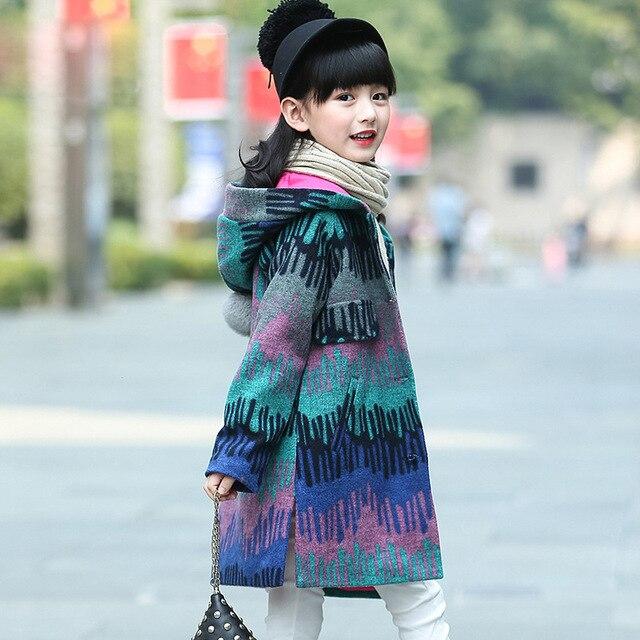 Girls Wool Coats Autumn Girls Clothes Colour Girls Jackets Children Clothing Outerwear 4-13 years Kids Jackets Girls Winter Coat