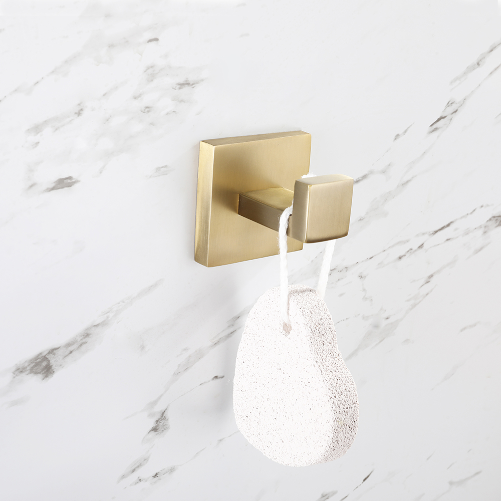 Stainless Steel Robe Hooks Wall Mount Hooks Clothes Hooks Bathroom Accessories In Brushed Gold Nickel Bathroom Towel Hooks