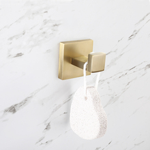 Stainless steel Robe Hooks Wall Mount Clothes Bathroom Accessories In Brushed Gold Nickel Towel