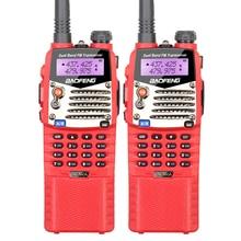 2PCS Big Battery 3800mah Baofeng Red UV-5RA Walkie Talkie Interphone CB Radio VHF UHF Dual Band Transceiver Free Headset