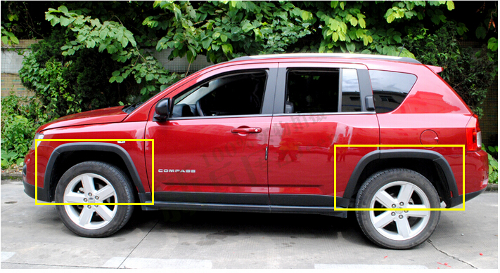 Fender Flare Wheel Extension Arches For Jeep compass 2011 2012 2013 2014 2015 2011 2015 for jeep compass front