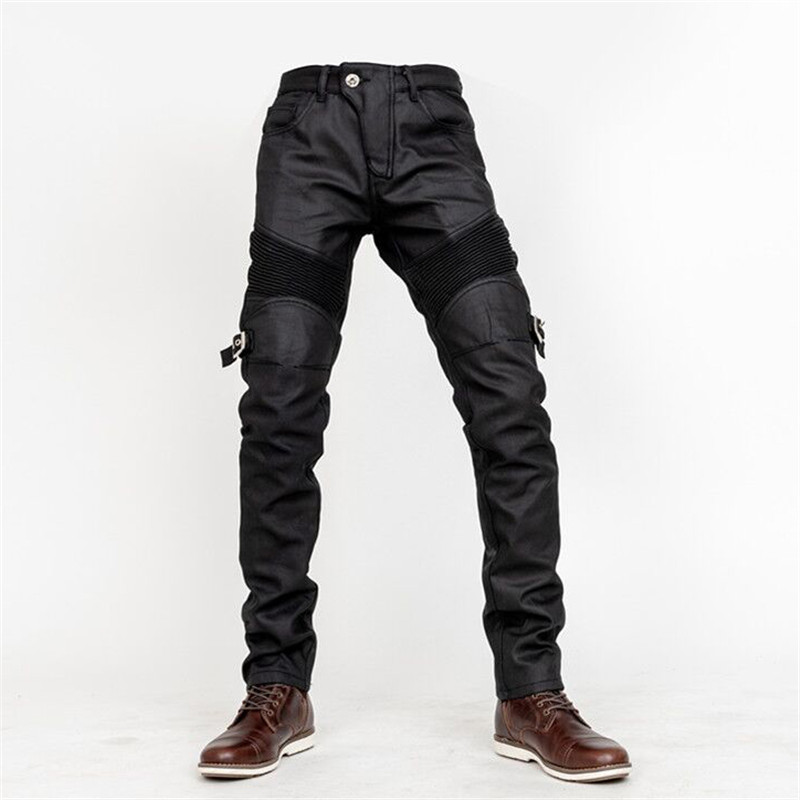 Classic Motorcycle Jeans Drop Resistance Slim Denim Cycling Racing Pants Motocross Off-road Hockey Pants With Painting Protect