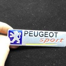 Car Styling 3D Aluminum Car Sticker for PEUGEOT 2010 2011 2012 2013 2014 Peugeot 408 308 2008 3008 508 307 206 301