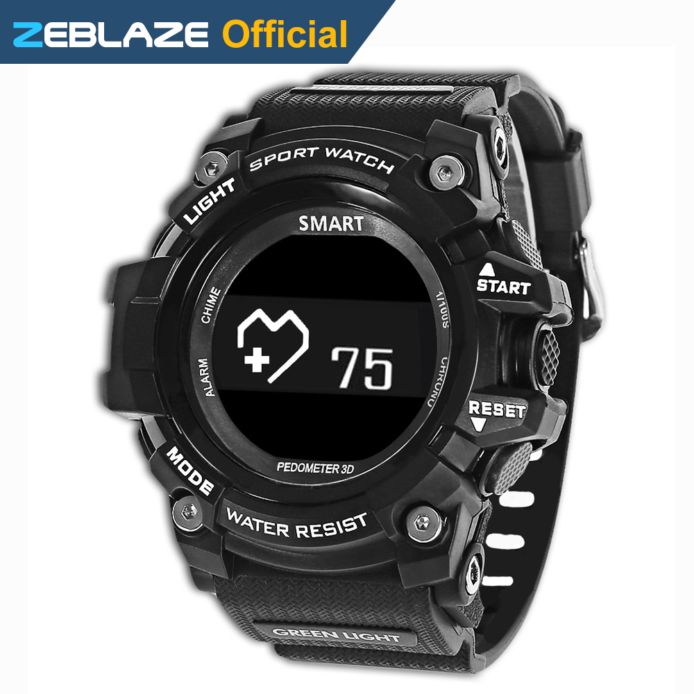 Zeblaze MUSCLE HR Rugged Sport SmartWatch 5ATM Waterproof Heart Rate Monitor Bluetooth For Android IOS