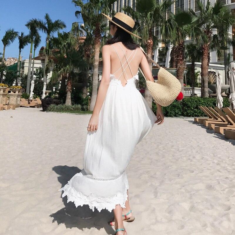 Longue robe pour une vacance d'été ...