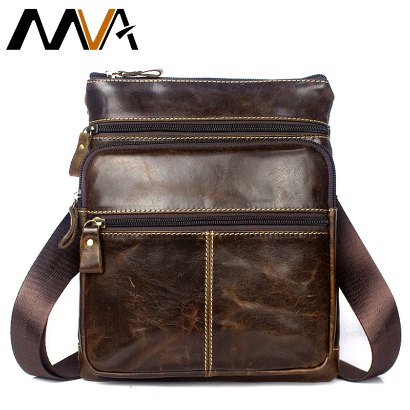 MVA Genuine Leather men Bag cowhide Messenger Bags Men Leather Bag male Casual Small Flap Shoulder Crossbody Bags Handbags 8843 contact s genuine leather men bag male shoulder crossbody bags messenger small flap casual handbags commercial briefcase bag