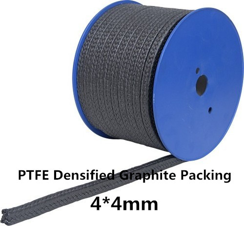 4*4mm Expanded Graphite Packing PTFE Filled 1KG /expanded graphite braided packing for Pump Valves Steam 50 50mm pure flexible graphite packing 1kg expanded pure graphite packing for valve