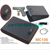 Wholesale MC100 Portable 3 Digit Combination Lock Mini Car Gun Safe Box Vault With One Year