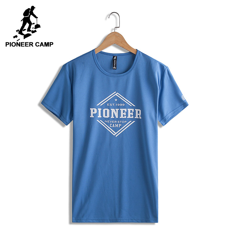 Pioneer Camp quick-drying summer T-shirt men brand clothing letter printed T shirt male top quality casual Tshirt ADT705054
