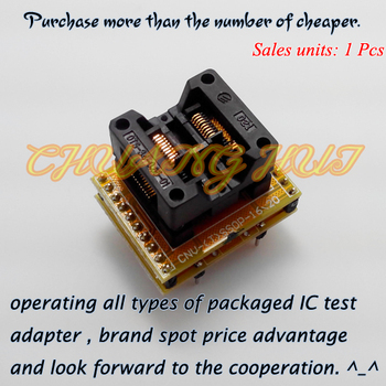 TSSOP16 to DIP16 Programmer adapter SSOP16 Test Socket Pitch=0.65mm Width=7.8mm/5.3mm m74hc237b1 m74hc237b dip16