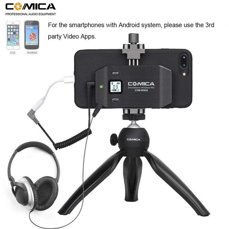 Image 4 - Micrófono inalámbrico para teléfono inteligente Comica CVM WS50 (C) 6 canales micrófono solapa Lavalier para iPhone Samsung Huawei teléfono Androidmicrófonos   -