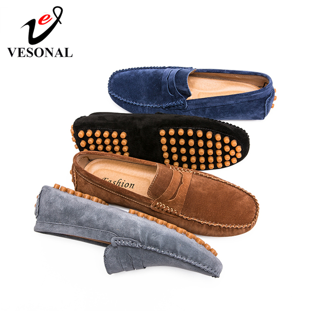 7c7019f722a3d VESONAL 2019 Summer Genuine Leather Men Shoes Loafers Male Moccasins Flats  Breathable Casual Boat Driver Soft Footwear Driving