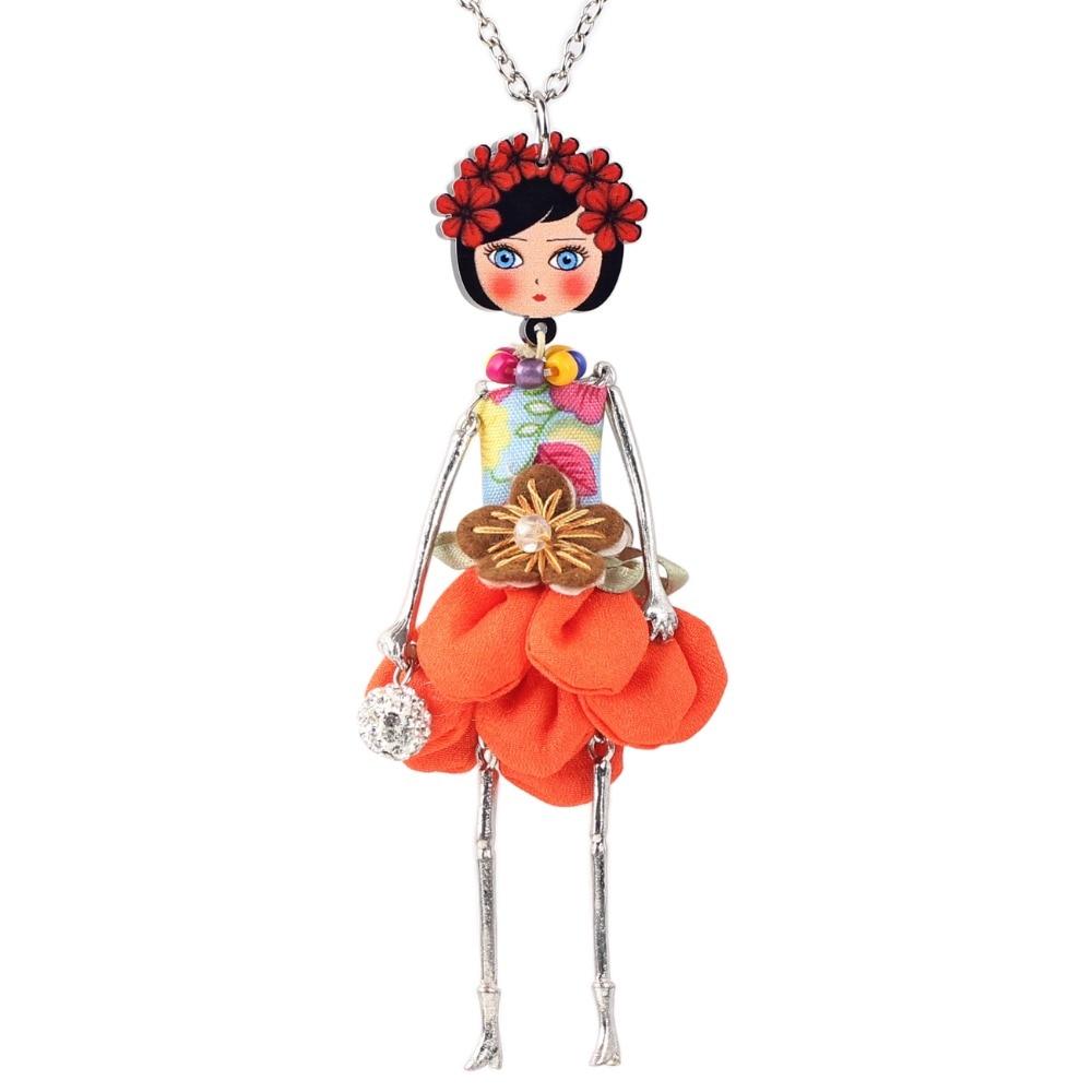 Bonsny avaldus lille nukk kaelakee kleit käsitöö prantsuse nukk - Mood ehteid - Foto 3