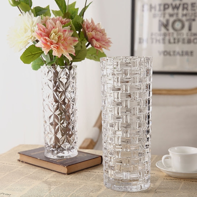 Aliexpress Buy Tabletop Straight Glass Flower Vase Drawing