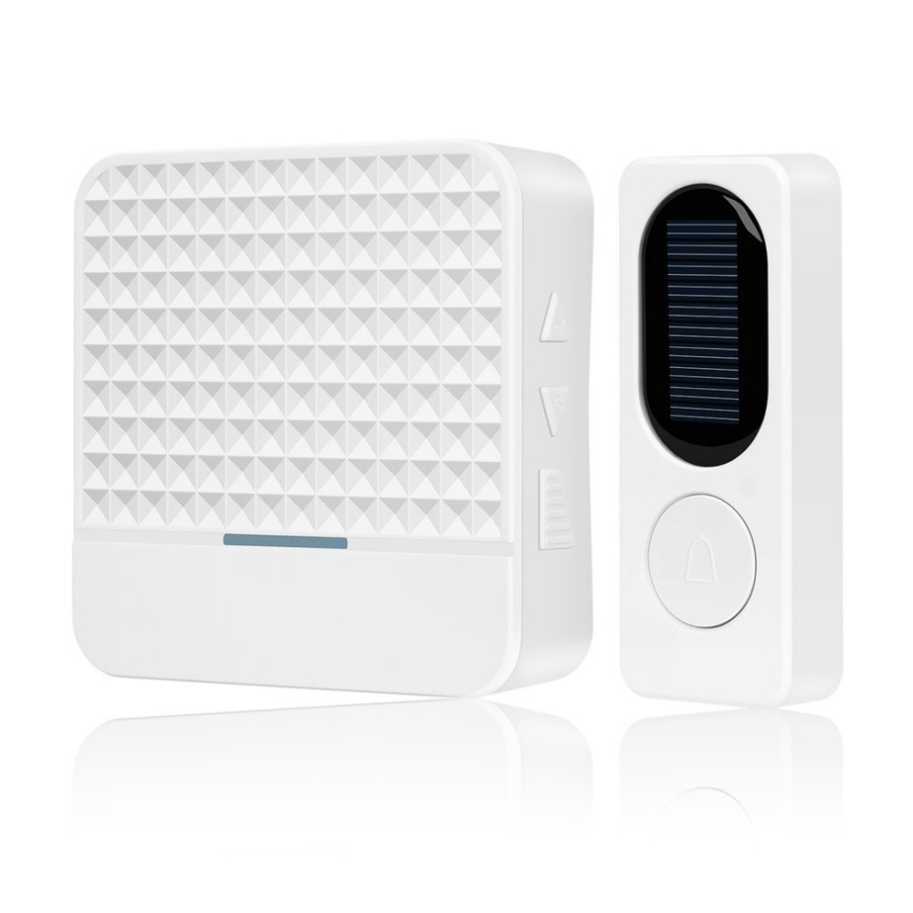 Solar Energy Wireless Doorbell Household Self Generating Electric Bell Waterproof Long Distance Calling Device US/EU jeatone wireless doorbell self generating doorbell through the wall of your home with long distance intelligent remote control