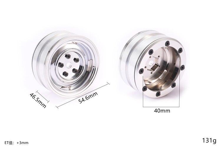 Métal 1.9 pouce beadlock roue jante chenille pour TOYOTA RC4WD TF2 FJ40 HPI FJ LAND CRUISER lc70/lc80 (couvercle de moyeu non inclus)