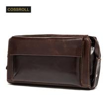 Fashion Men's Original Retro Leather Clutch Wallet Guaranteed Genuine Leather Vintage Man Clutch Bag High Capacity