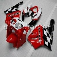 Schrauben + aftermarket ABS cowling ROT SCHWARZ motorrad verkleidung für Kawasaki Ninja ZX7R 1996 1997 1998 1999 2000 2001 2002 2003