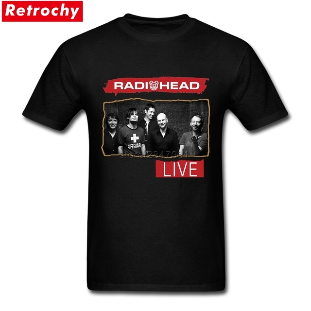 Custom Made Cool T Shirts Radiohead T Shirts For Man Cheap Short ...
