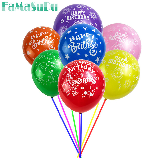 20 Teile Los Happy Birthday Balloons Party Dekoration Buchstaben Alphabet Aluminium Helium Ballon Latex