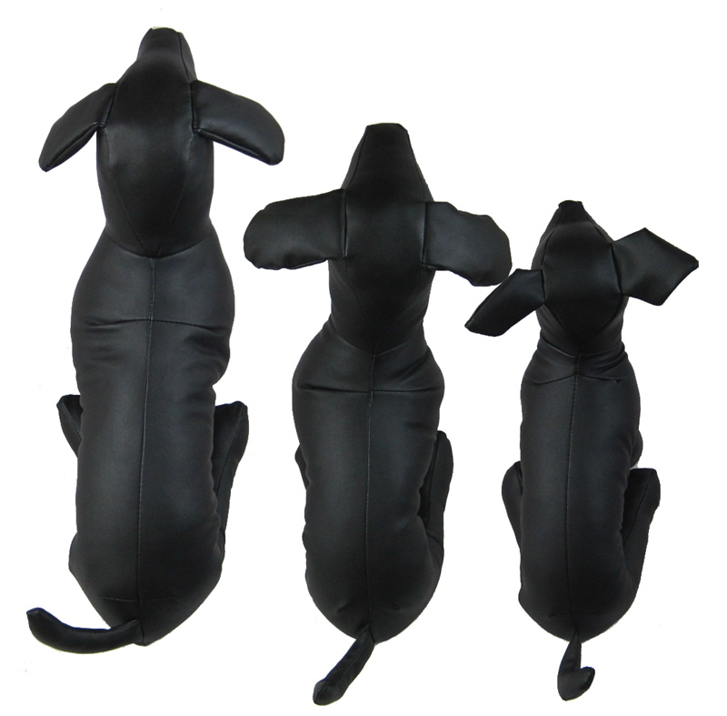 PVC Leather Dog Models Pet Dog Mannequins Pet Clothing Stand Display Supplies S M L