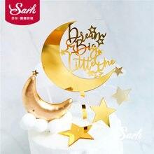 Sarı Ay Bulut Yağmur Damlası Kek Toppers Doğum Günü Tatlı Yıldız Dekorasyon Çocuk günü Parti Malzemeleri Güzel Hediyeler