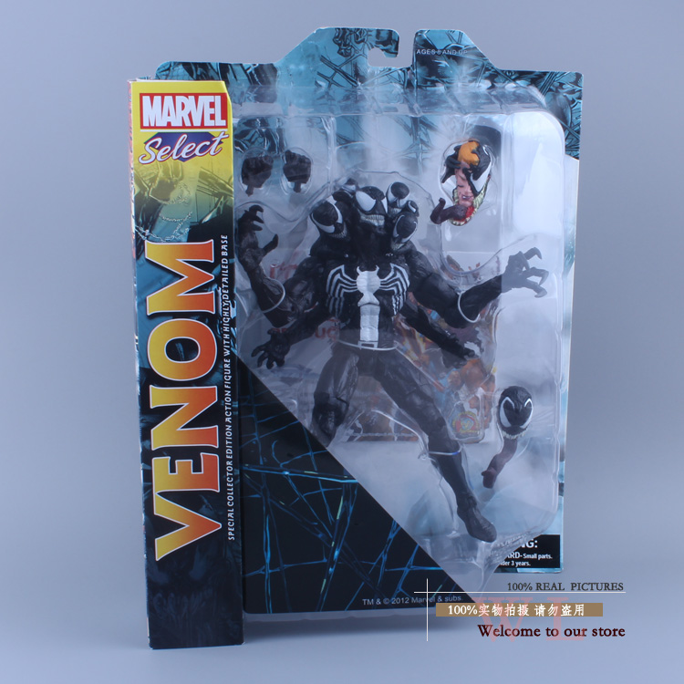 все цены на  Marvel Select The Amazing Spider-man 2 Venom PVC Action Figure Collcetion Model Toy 21cm  онлайн