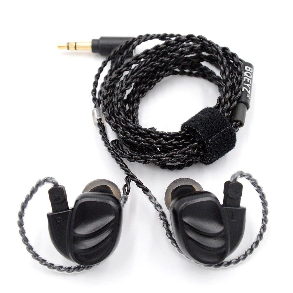 BQEYZ KC2 casque dans l'oreille écouteur 2BA + 2DD hybride lecteur course Sport écouteur oreillette casque 2Pin détachable T2 \ ZST \ AS10